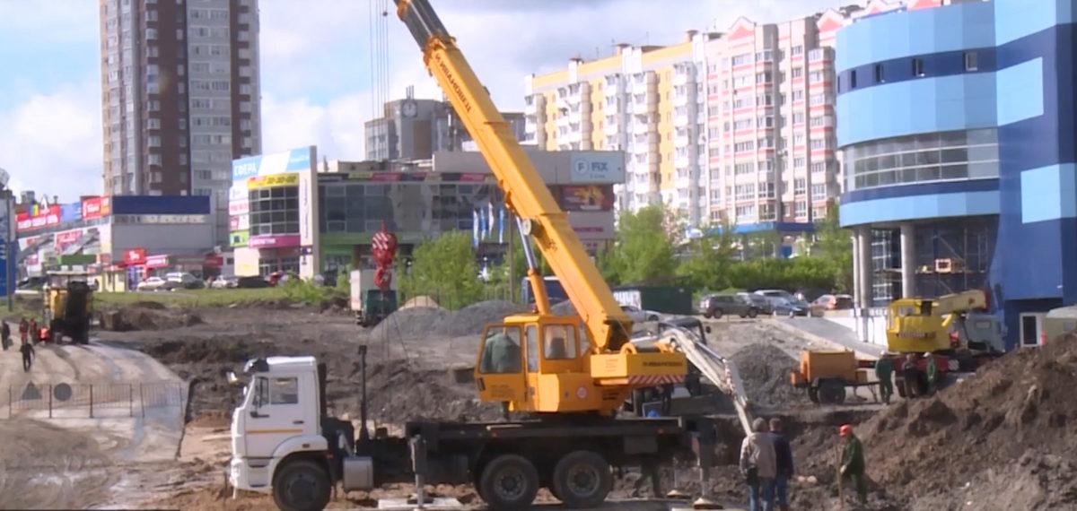 На строительстве нашего центра побывал наш Губернатор А.В. Богомаз